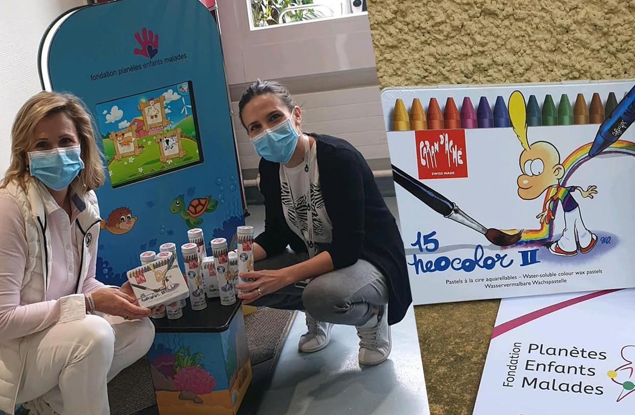 Caran Dache donate colouring pencils to childrens hospital during crisis