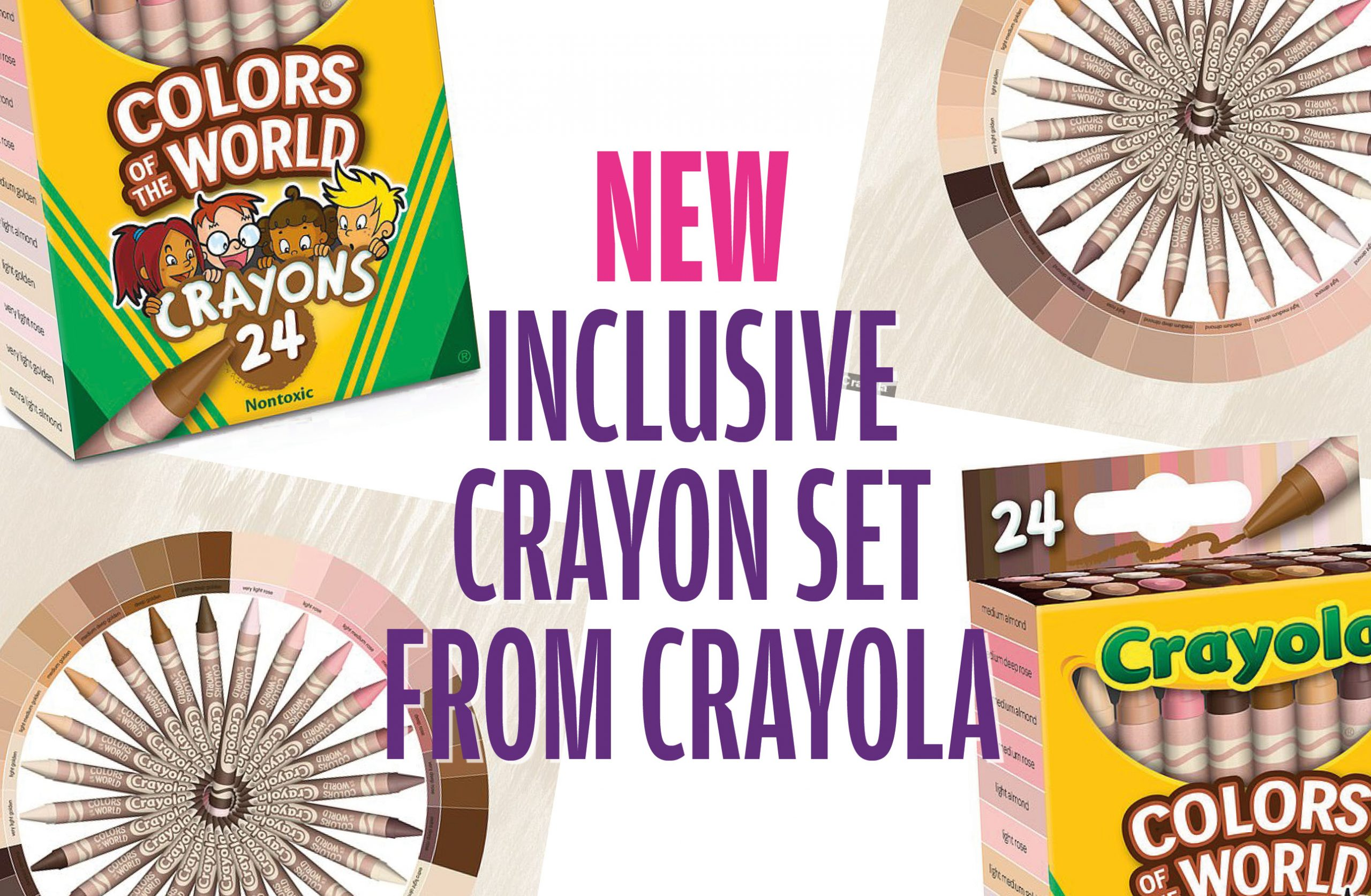 Crayola launch Colors of the World skin tone crayons