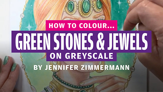 How to colour… green stones & jewels