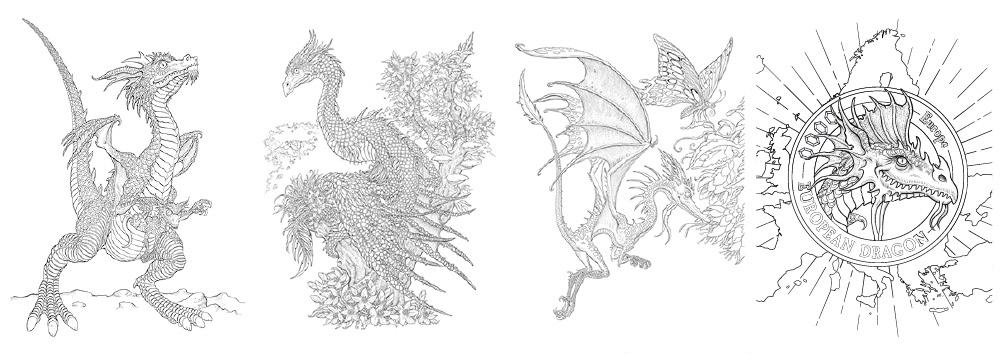 Dragons peek inside