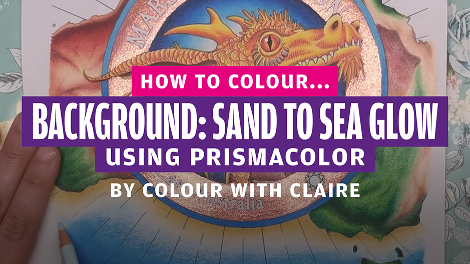 How to colour… sand to sea glow