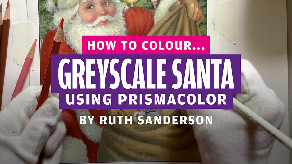 How to colour… greyscale Santa