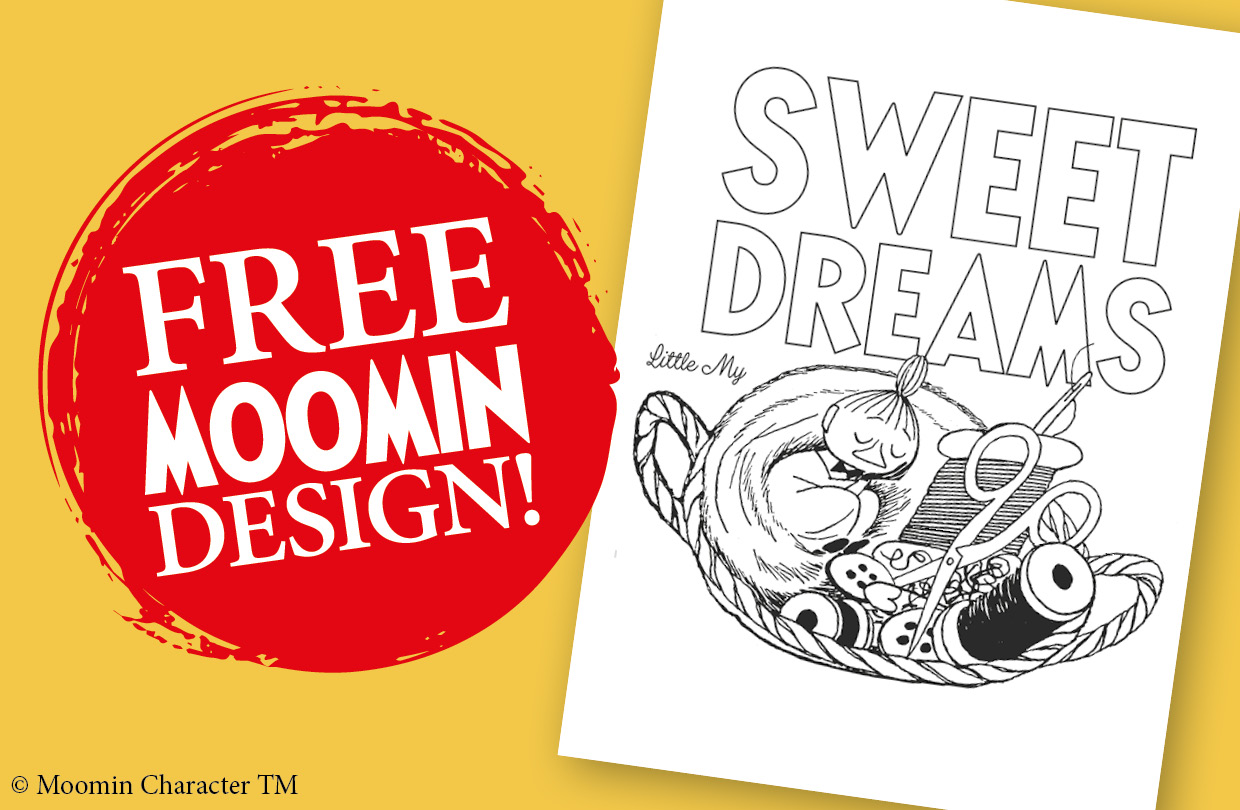 Free Moomin Colouring Page