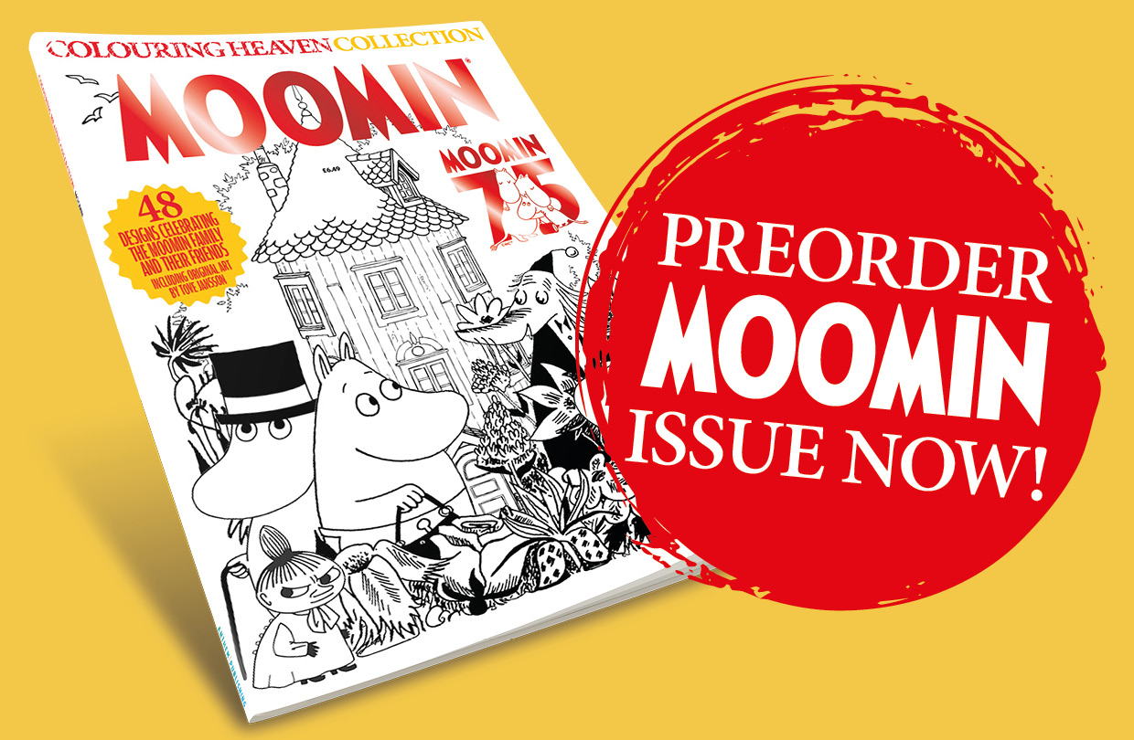Pre-order: Moomin edition of Colouring Heaven Collection