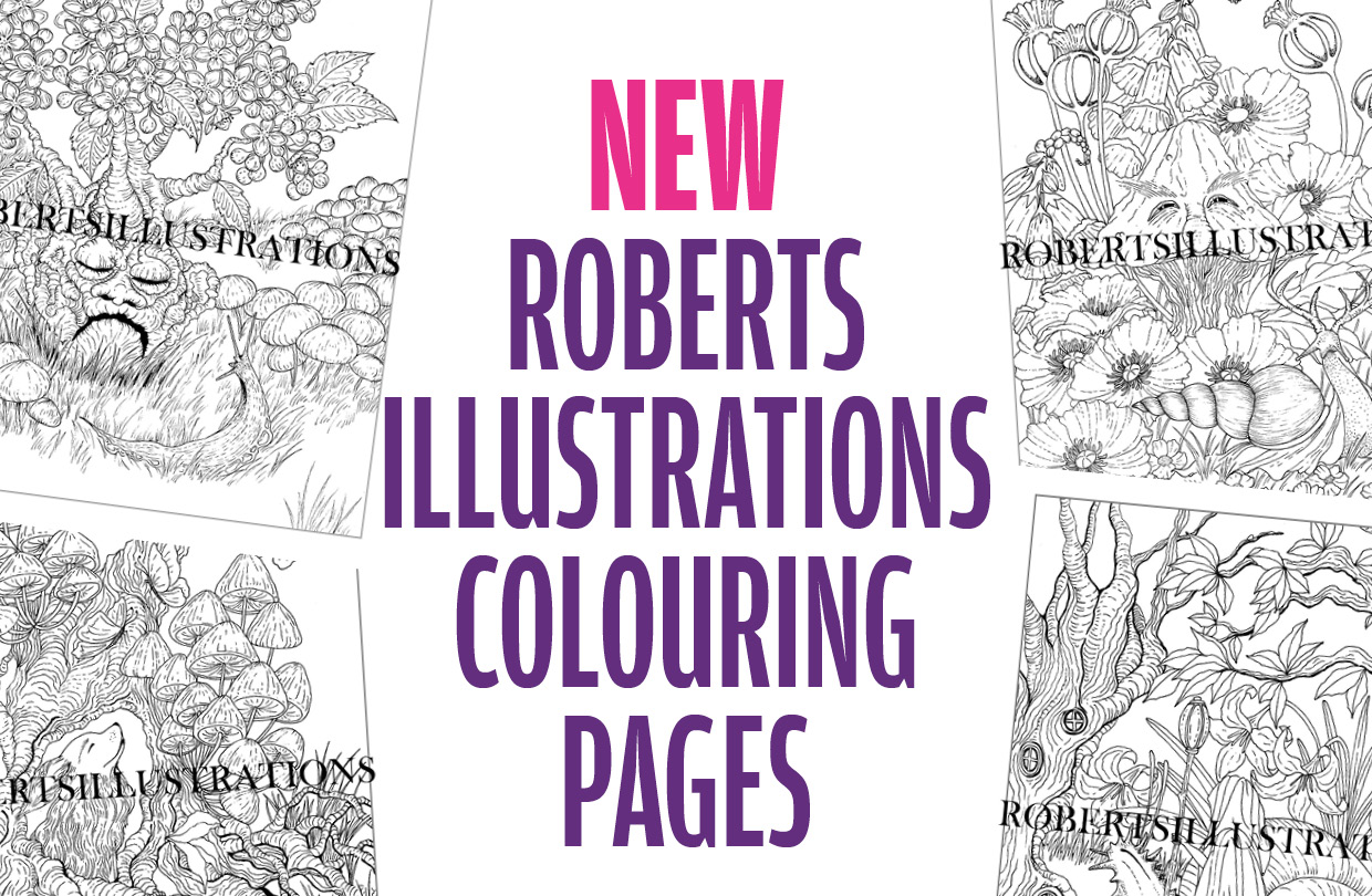 New colouring pages from Roberts Illustrations