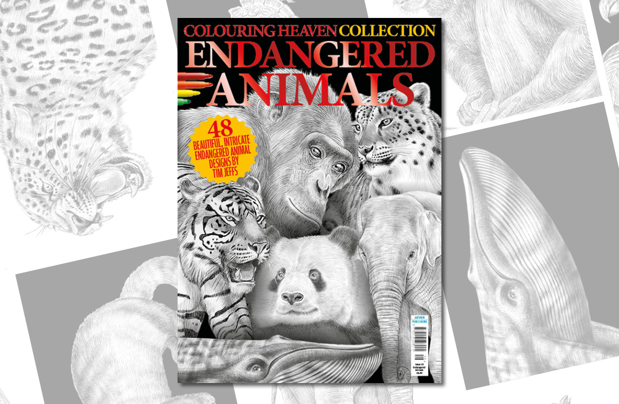 New Issue: Colouring Heaven Collection Endangered Animals