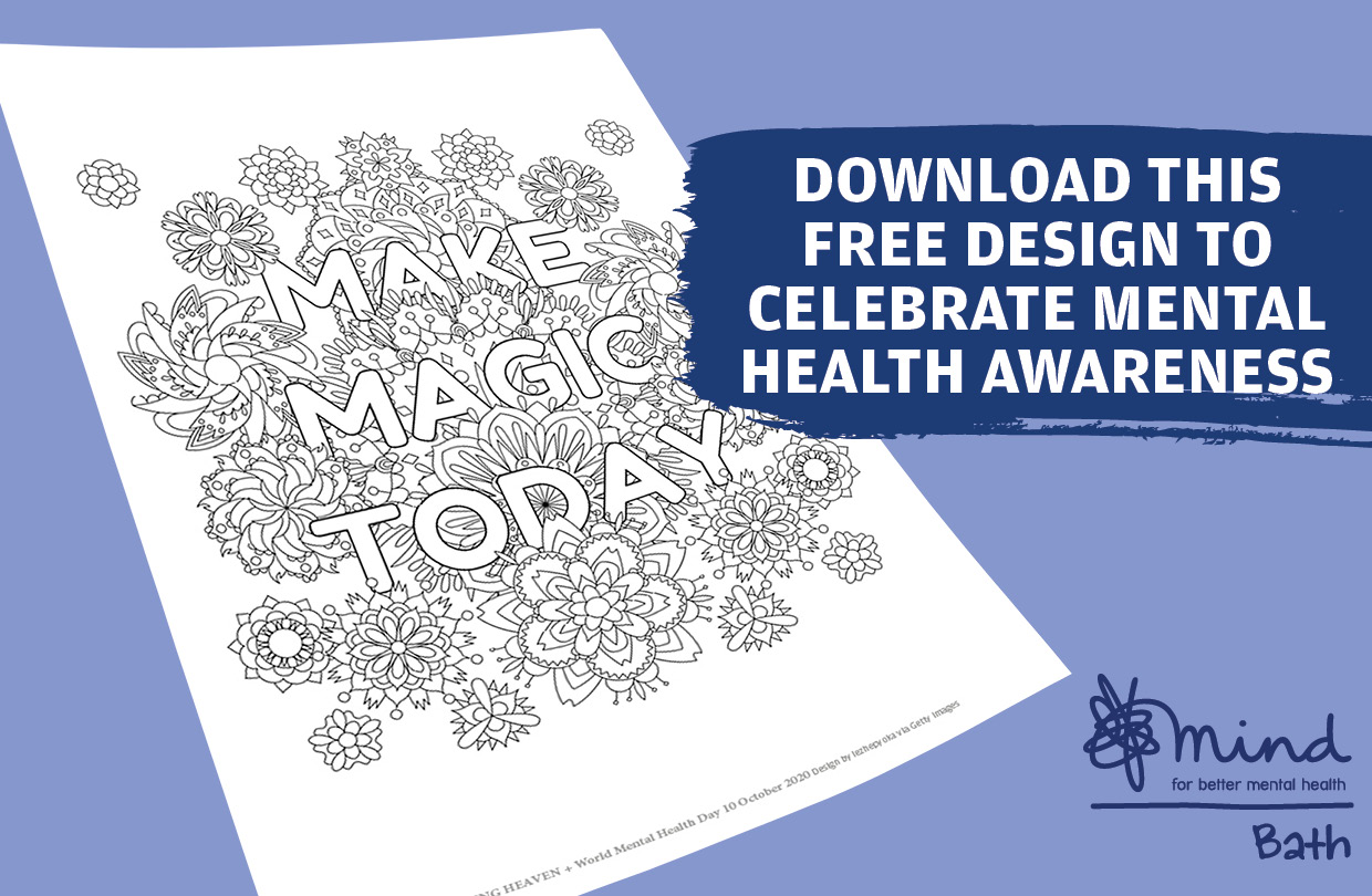 Free colouring page for Mental Health Awareness day!