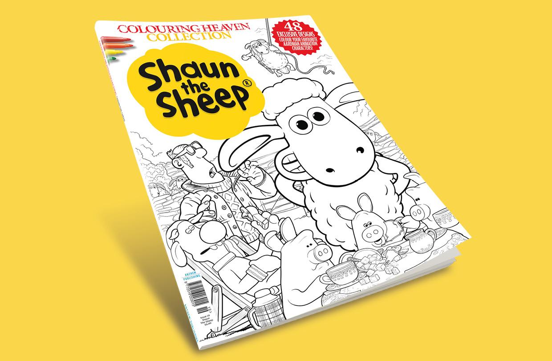 Pre-order: Shaun The Sheep edition of Colouring Heaven Collection