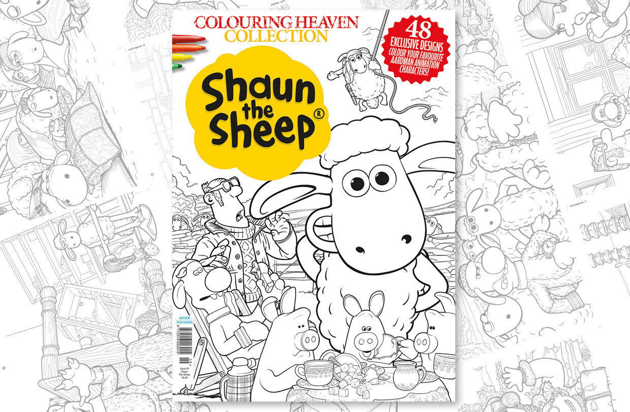 New Issue: Colouring Heaven Collection Shaun The Sheep