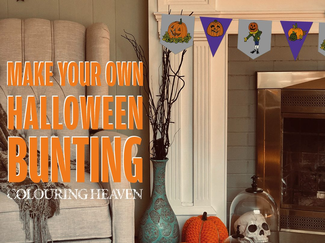 Free colourable Halloween bunting download!