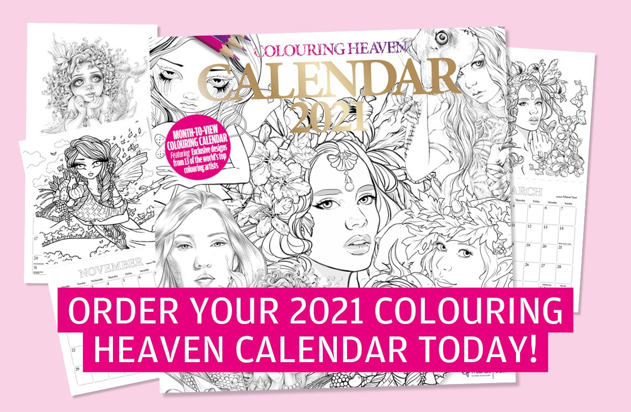Colouring Heaven 2021 Calendar now on sale!