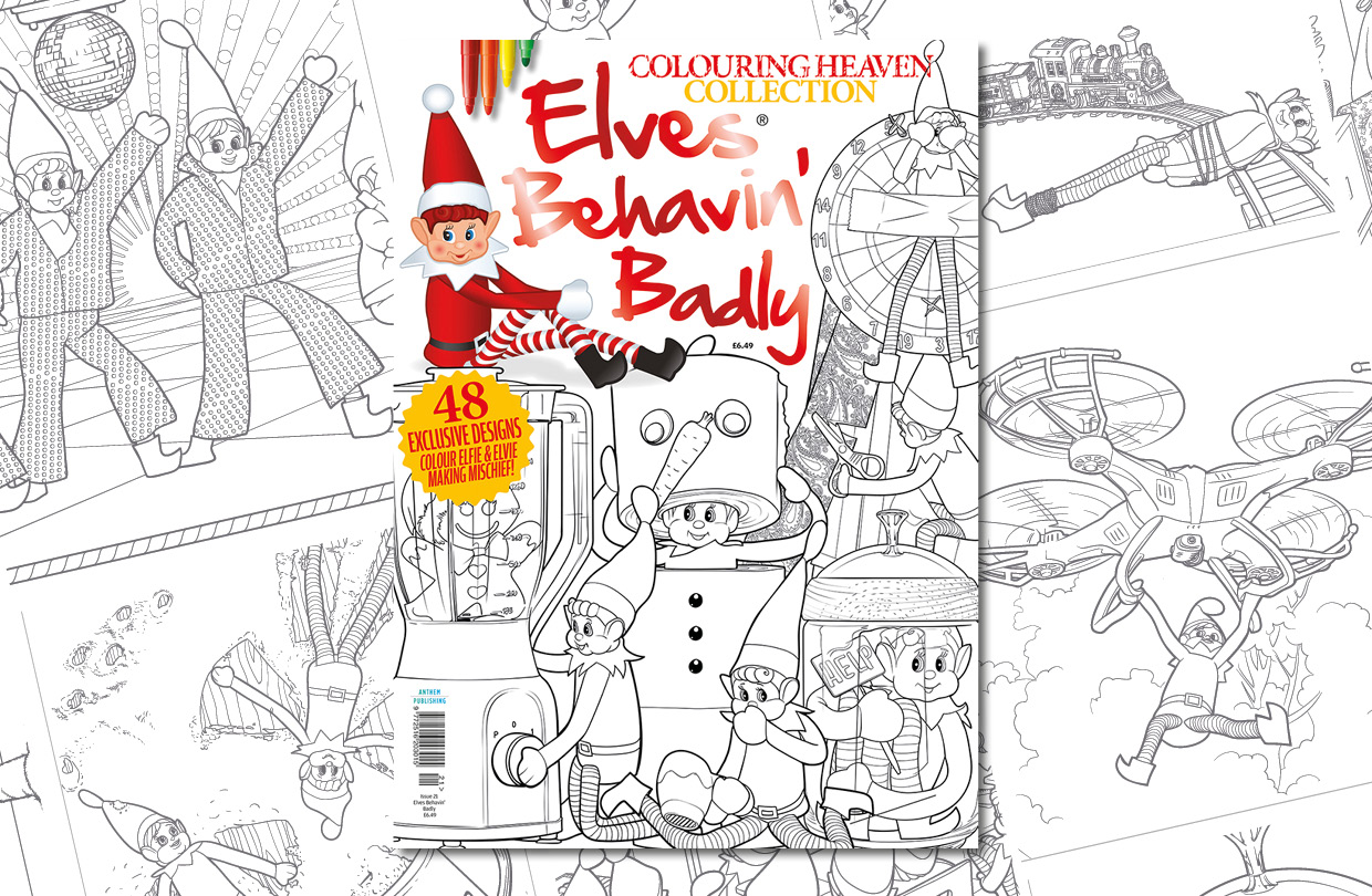 New Issue: Colouring Heaven Collection Elves Behavin' Badly