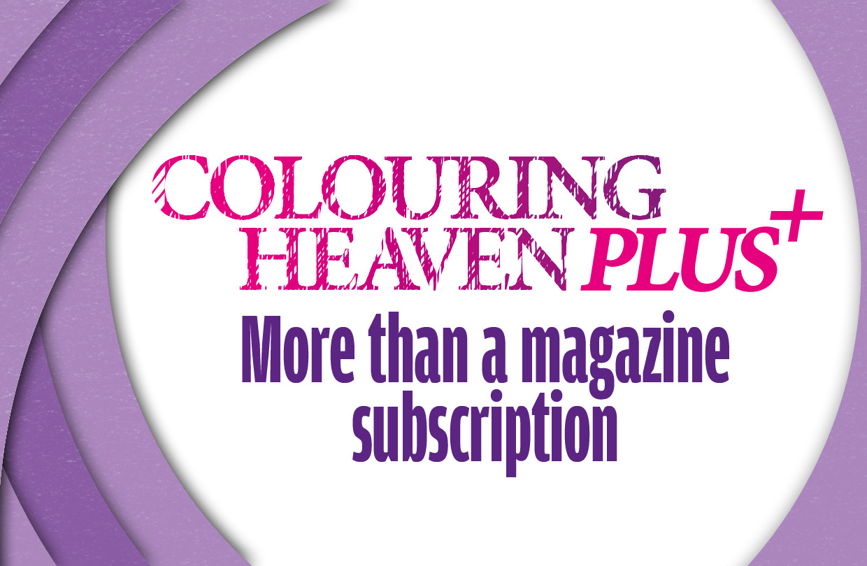 Join the Colouring Heaven Plus community for exclusive benefits!