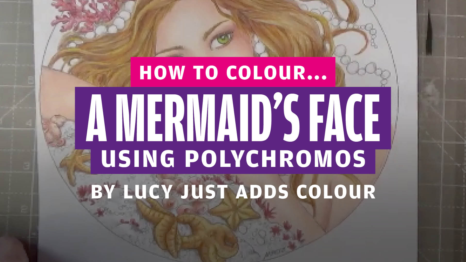 How to colour… a mermaid's face