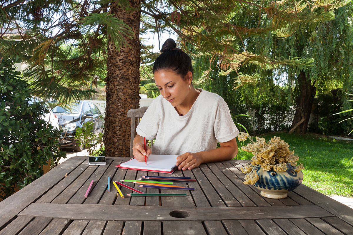 Coloring Books At The Garden.