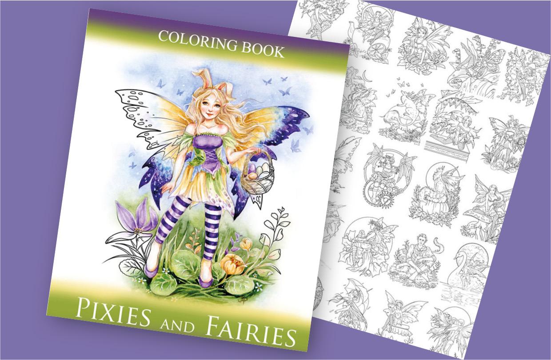 New fairy colouring book from Janna Prosvirina!