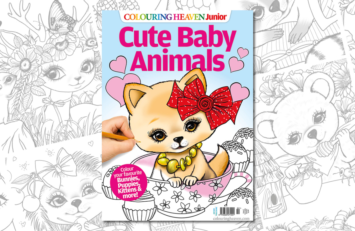 New Issue: Colouring Heaven Junior Cute Baby Animals