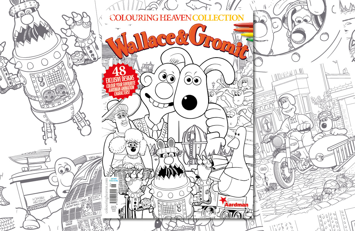 New issue: Colouring Heaven Collection Wallace & Gromit™
