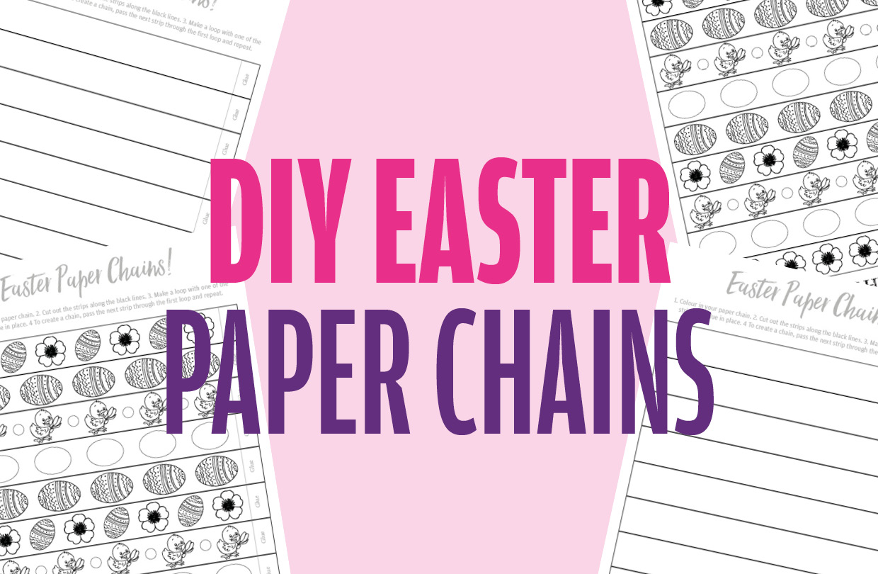 Free colourable Easter paper chains!