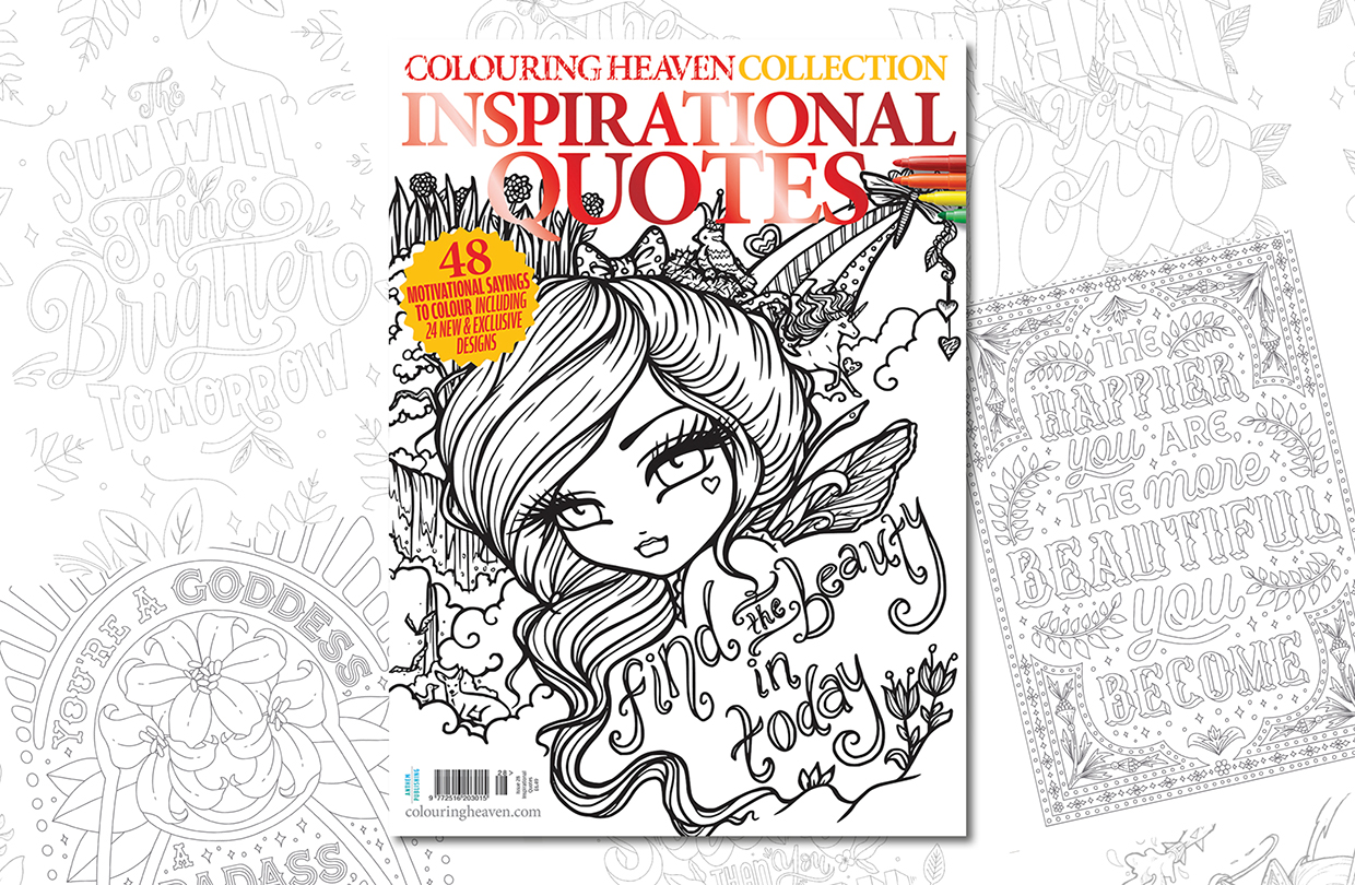 New Issue: Colouring Heaven Collection Inspirational Quotes