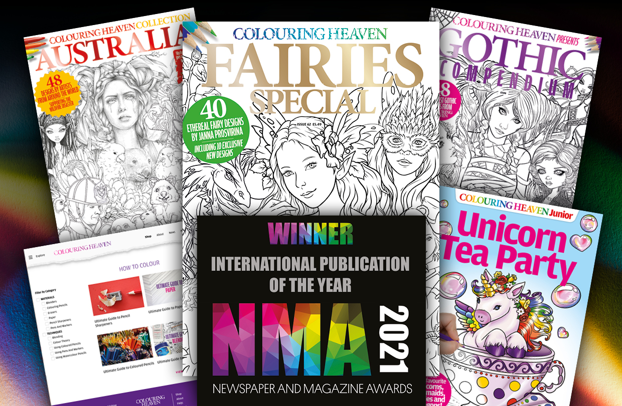 Colouring Heaven wins International Publication of the Year at the 2021 NMAs!