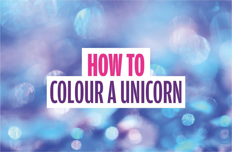 How to colour a unicorn