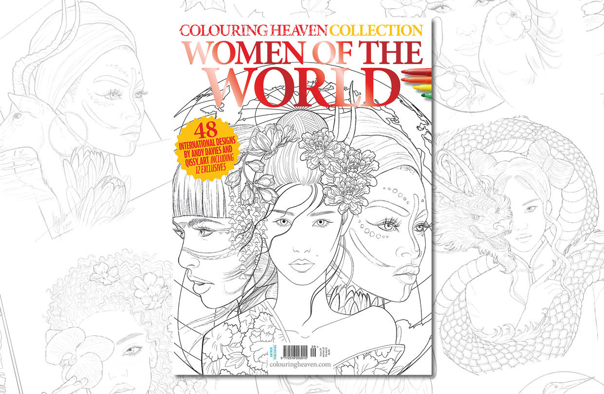 New Issue: Colouring Heaven Collection Women of the World