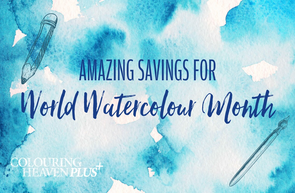 Celebrate World Watercolour Month with Colouring Heaven!