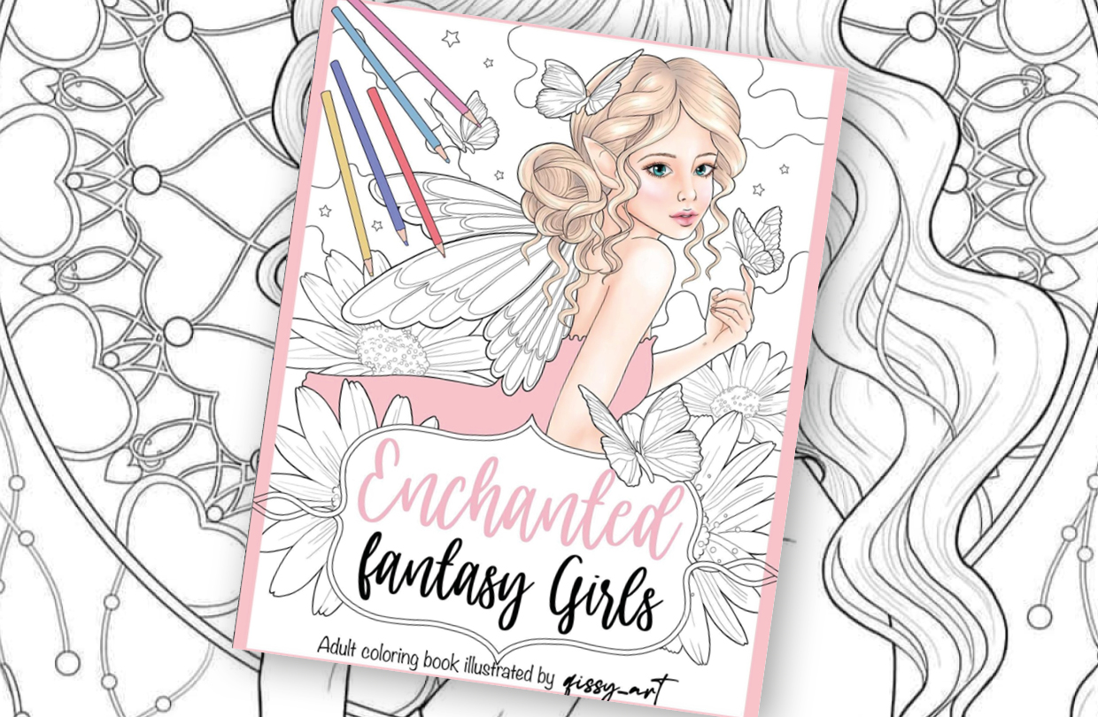 Qissy Art announces a brand new fantasy colouring book!