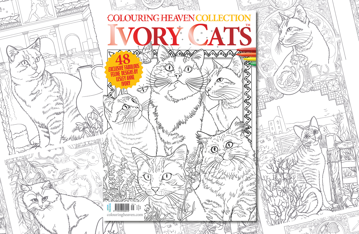 New Issue: Colouring Heaven Collection Ivory Cats™