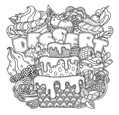 Colouring Heaven Collection Food issue freebie colouring page