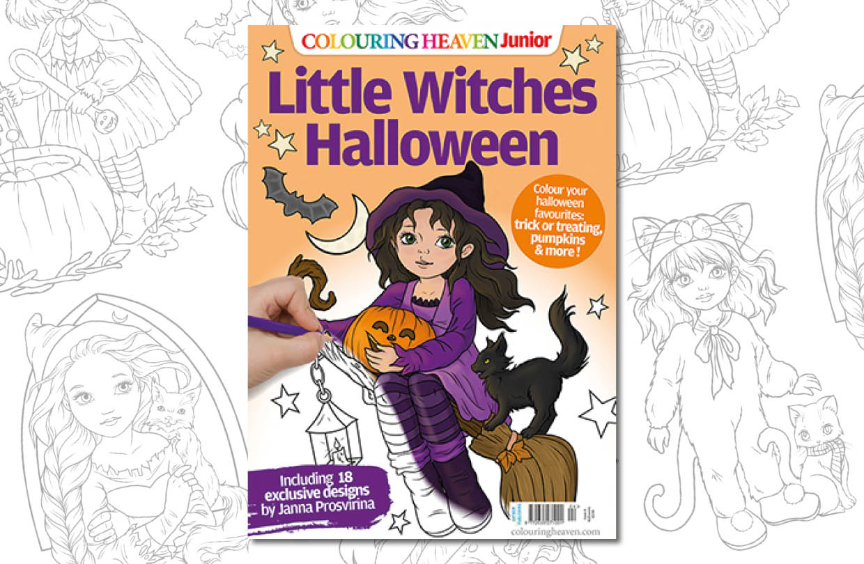 New Issue: Colouring Heaven Junior Little Witches Halloween