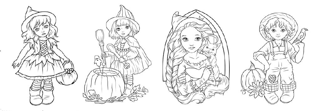 Colouring Heaven Junior Little Witches Halloween on sale