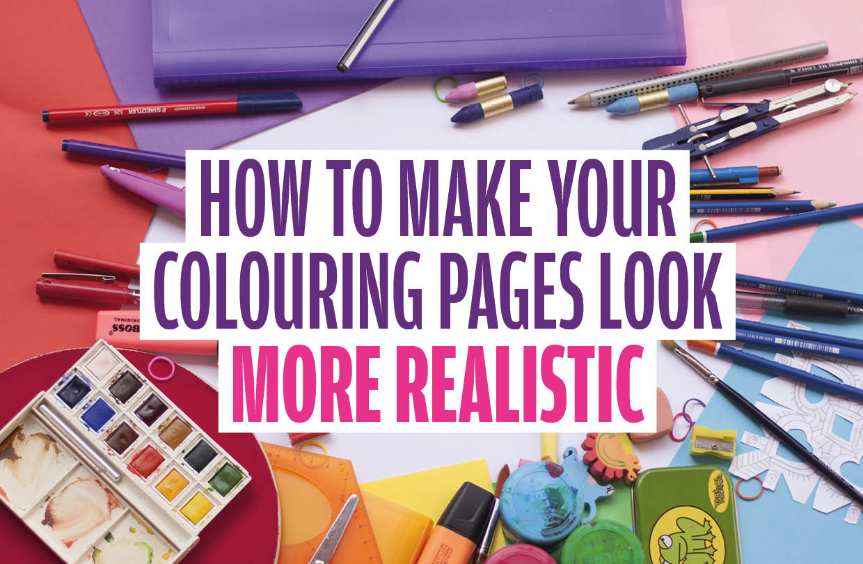 How to make your colouring pages look more realistic