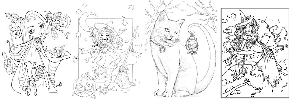 Colouring Heaven Halloween Special issue 80 2021 on sale