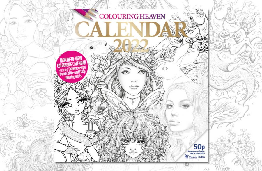 Colouring Heaven 2022 Calendar now on sale!