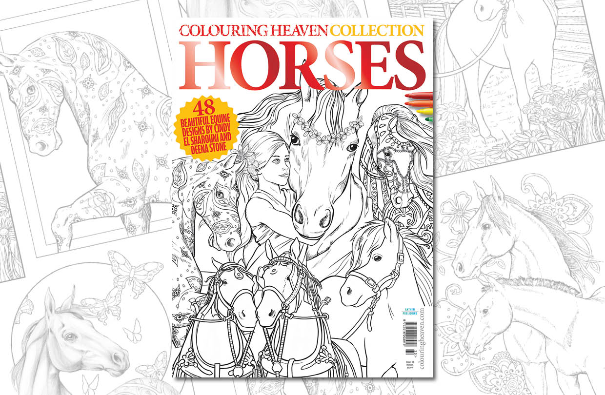 New issue: Colouring Heaven Collection Horses