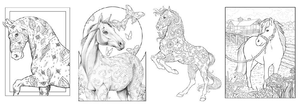Colouring Heaven Collection Horses 33 2021 on sale now look inside sneak peek flip through